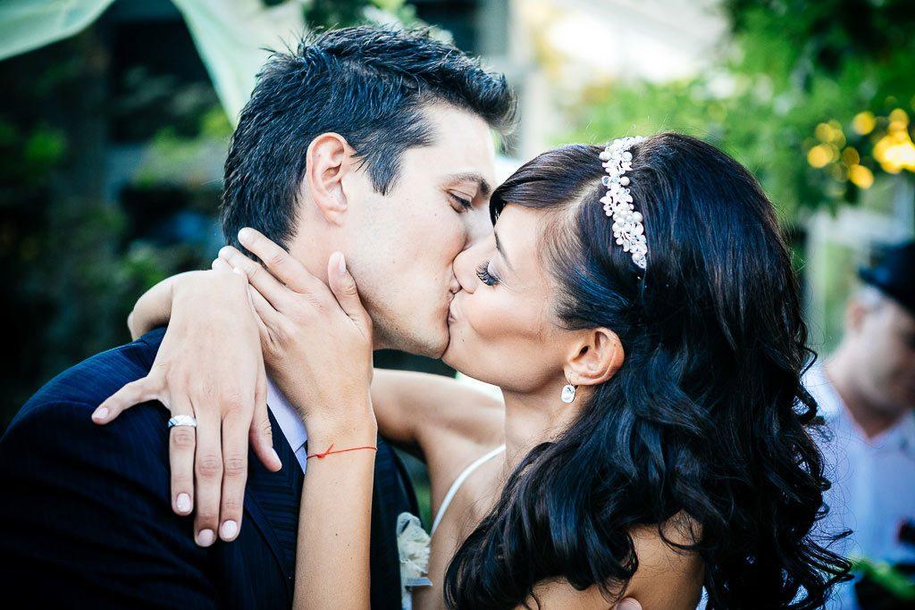 сватбена фотография, портрет на младоженците